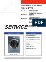 lg front load washer service manual
