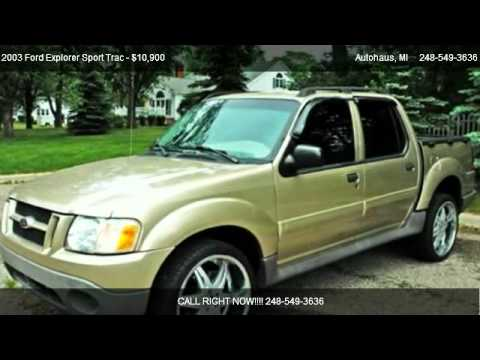 2003 ford explorer sport trac xlt owners manual