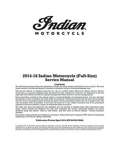 2016 indian chieftain owners manual