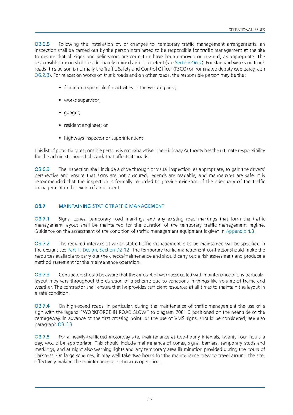 traffic signs manual chapter 8 part 2