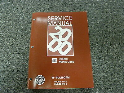 2000 chevy impala owners manual