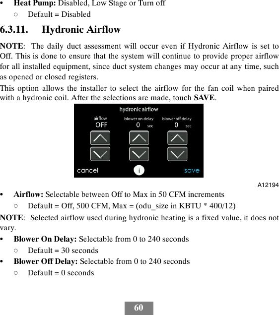 carrier infinity system user manual