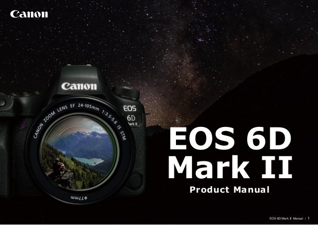 canon 6d mark ii owners manual