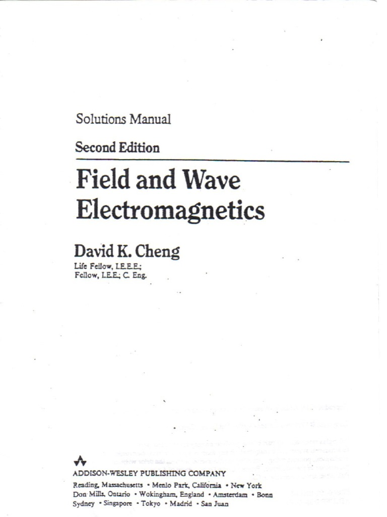 cheng field and wave electromagnetics 2ed solution manual 2