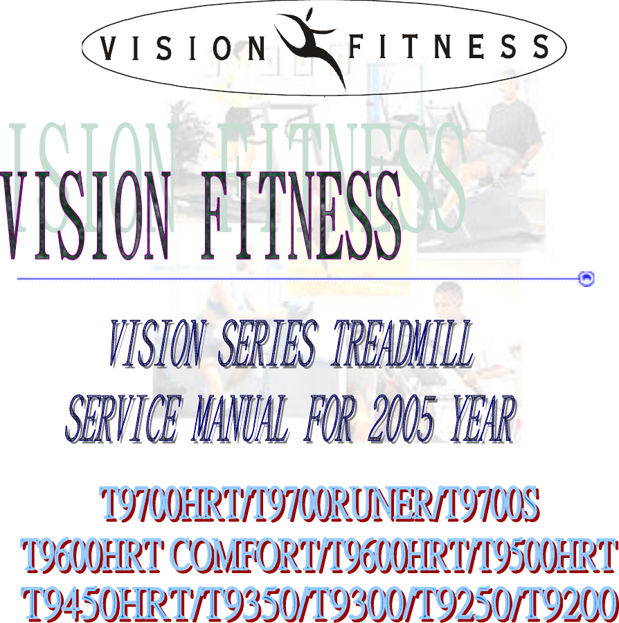 vision fitness t9200 treadmill owners manual